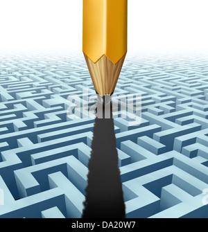Intelligente Planung und Problemlösung und finden die beste kreative Lösung zu einer komplizierten und komplexen - Stockfoto