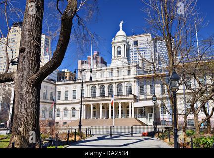 Rathaus Gebäude von New York City, USA. - Stockfoto