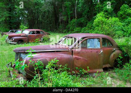 Florida Trinidad antike Autos automobile Fahrzeuge verrostet - Stockfoto