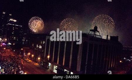 Macys Feuerwerk im vierten Juli