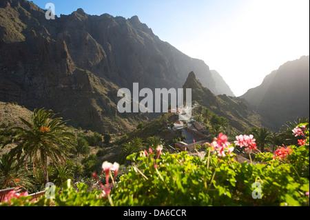 Teneriffa, Teneriffa, Kanaren, Kanarische Inseln, Spanien, Spanisch, Europa, Masca, Berglandschaft, Berglandschaften, - Stockfoto