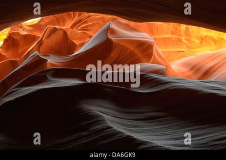 USA, USA, Amerika, Arizona, Seite, Nordamerika, Südwesten, Arizona, Antelope Canyon, Slot, Navajo, natürliche, Erosion, - Stockfoto