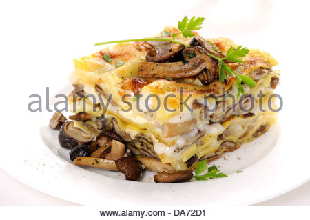 Pilze-lasagne - Stockfoto