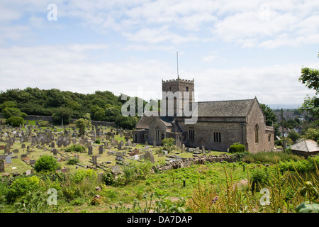 St. Andrews Church, Clevedon auf der North Somerset Küste England. Der Standort für die TV-Crime Drama Broadchurch - Stockfoto