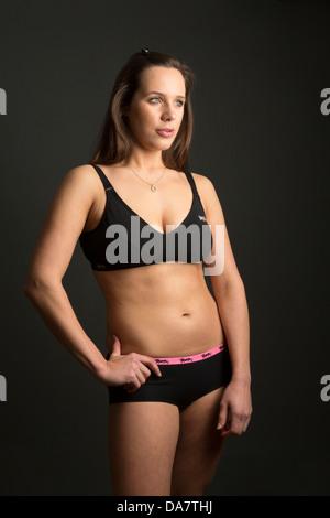 gesunde junge Frau - Stockfoto