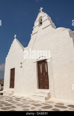 Panagia Paraportiani Kirche, Kastro, Chora, Mykonos Stadt, Mykonos, Griechenland - Stockfoto