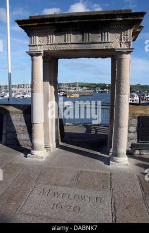 Mayflower Schritte, Barbican, Plymouth, Devon, England, Vereinigtes Königreich, Europa - Stockfoto