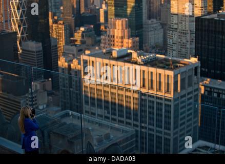 Blick vom Rockefeller Center, Manhattan, New York City, USA - Stockfoto