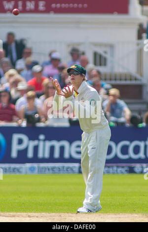 Nottingham, UK. 12. Juli 2013. Australiens Steven Smith tagsüber Spiel drei der ersten Investec Asche Test bei Trent - Stockfoto