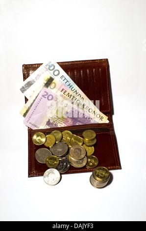 Wallet mit Geld - Stockfoto