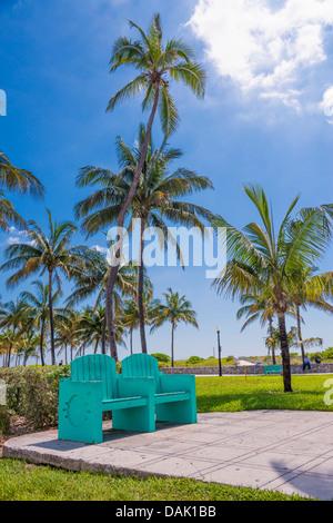 USA, Florida, Miami Beach, Ansicht der Art Deco District - Stockfoto