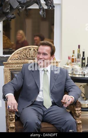 SANTA MONICA CA. - Schauspieler/Gouverneur Arnold Schwarzenegger am 31. Januar 2008 in Santa Monica, Kalifornien - Stockfoto