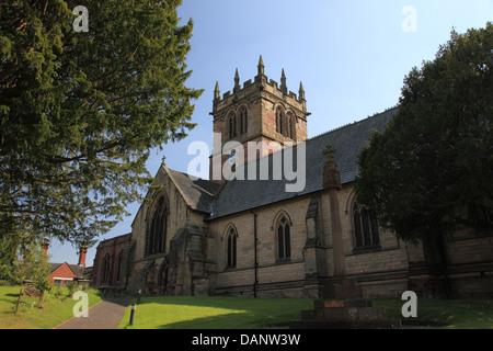 St. Marien Kirche, Ellesmere, Shropshire, Note I aufgeführten Gebäude in der Diözese Hereford Stockfoto