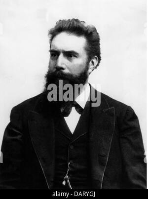 Roentgen, Wilhelm Conrad, 27.3.229 - 10.2.1923, Deutscher Wissenschaftler (Physiker), halbe Länge, Nobelpreis für - Stockfoto