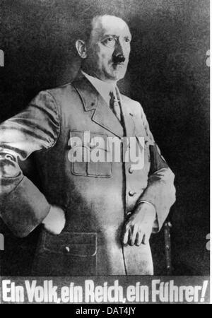 Hitler Ein Volk Ein Reich Ein Führer 1939 Plakat Der