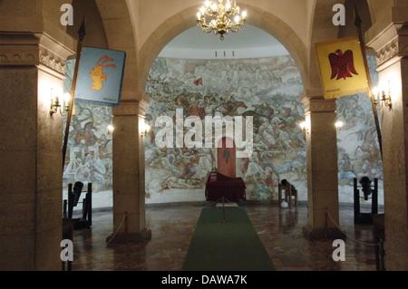 Albanien. Kruje. National Museum. Im Inneren. Kruje Burg. - Stockfoto