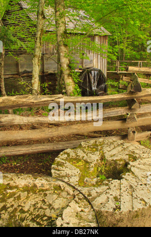 John P Kabel Grist Mill, Cades Cove, große Smoky Mountains National Park, Tennessee, USA - Stockfoto