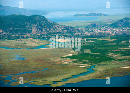 Ägypten, Provinz Mugla, Dalyan, Übersicht Über Das Schilfgebiet, sterben Kanäle Bis Zum Köycegiz-See - Stockfoto