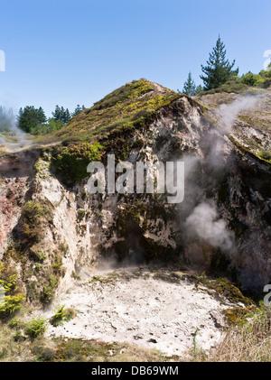 dh-Krater des Mond TAUPO Neuseeland geothermische gehen Thermenlandschaft Dampf Öffnungen Krater - Stockfoto