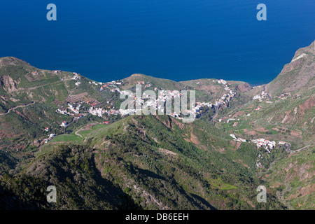 Taganana Dorf im Anaga-Gebirge, Teneriffa, Kanarische Inseln, Spanien - Stockfoto