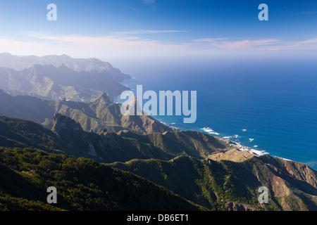 Blick vom Mount Chinobre Richtung Nordküste, Teneriffa, Kanarische Inseln, Spanien - Stockfoto