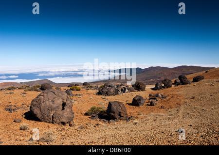 Teide Eiern oder Lava Accreation Kugeln im Teide-Nationalpark, Teneriffa, Kanarische Inseln, Spanien - Stockfoto