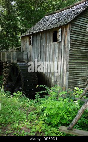 Die John Kabel Grist Mill, gebaut im Jahre 1868. John P. Cable (1819 – 1891), ein Neffe von Peter Cable, musste - Stockfoto