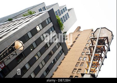 Künstlerisch off Axis-Gebäude in New York City - Stockfoto