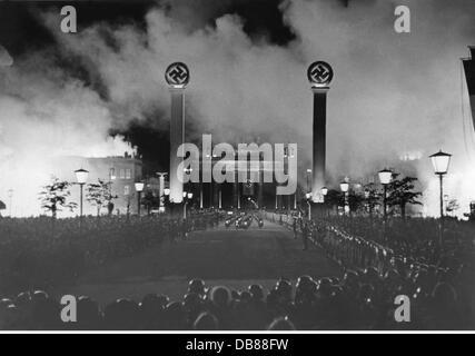 Nationalsozialismus / Nationalsozialismus, Politik, Achse Rom-Berlin, Reise von Reichskanzler Adolf Hitler nach - Stockfoto