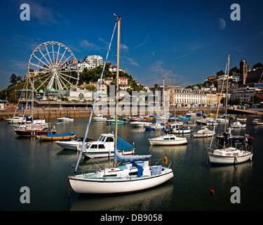 GB - DEVON: Torquay Hafen und englische Riviera Rad - Stockfoto