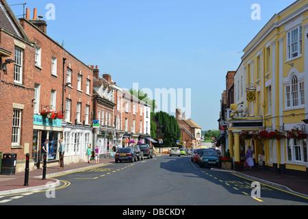 High Street, Upton-auf-Severn, Worcestershire, England, Vereinigtes Königreich - Stockfoto