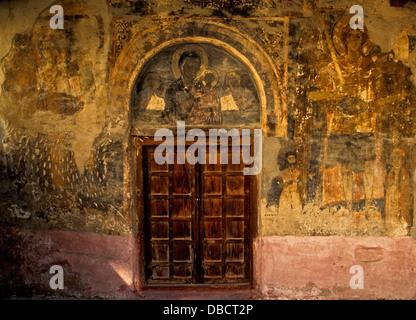 Kirche der Taxiarches, West Wand Fresko in Kavala. Kastoria ist eine Stadt im Norden Griechenlands in der Region - Stockfoto