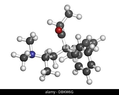 Methadon opioid Abhängigkeit Drogen, chemische Struktur. Auch ...