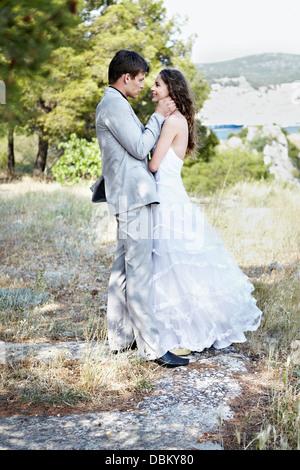 Hochzeitspaar Im Freien - Stockfoto