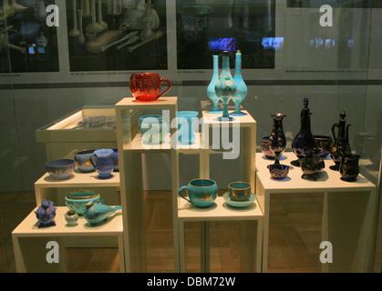 Glas-Handwerk in Turkiye ist Bankasi Museum in Istanbul, Türkei - Stockfoto