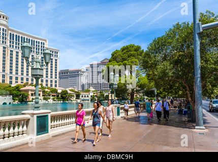 Las Vegas Boulevard (Strip) außerhalb der Bellagio Casino, Las Vegas, Nevada, USA - Stockfoto