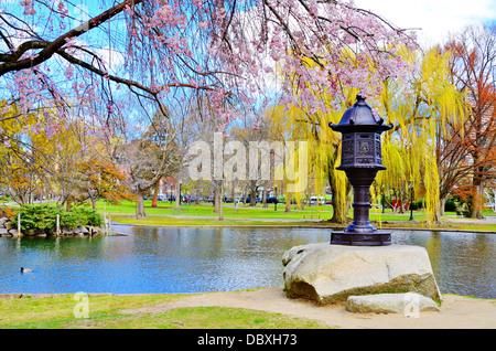 Lagune am Boston Public Garden in Boston, Massachusetts, USA. - Stockfoto