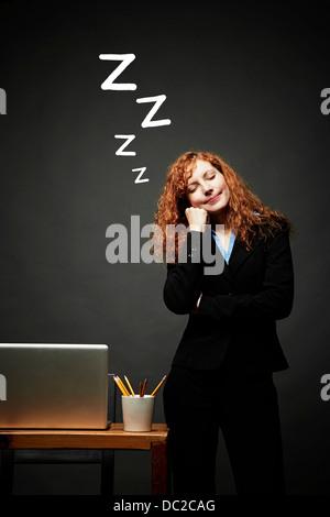 Frau in süßen Schlummer - Stockfoto