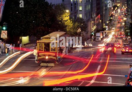 Seilbahn. Chinatown. In San Francisco. CA. USA - Stockfoto