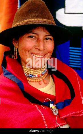 Salasaca Frau. Provinz Tungurahua. Ecuador - Stockfoto