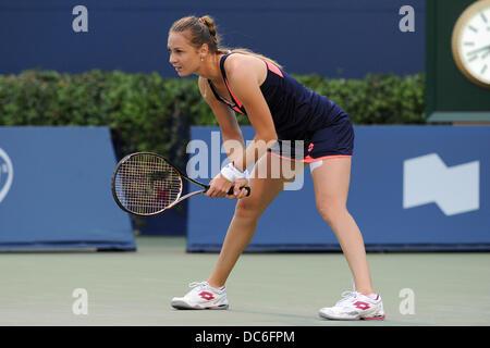 Toronto, Ontario, Kanada. 9. August 2013. Toronto, Ontario, Kanada, 9. August 2013. Magdalena Rybarikova (SVK) in - Stockfoto