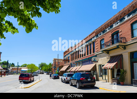 Das historische Occidental Hotel auf der Main Street in der Innenstadt von Buffalo, Wyoming, USA