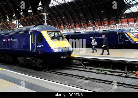 Eine allgemeine Ansicht der Bahnhof Paddington, London, Großbritannien - Stockfoto