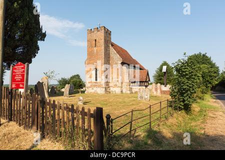 Kirche von St. Johannes der Täufer, North Baddesley in der Nähe von Romsey in Diözese von Winchester, Hampshire, - Stockfoto