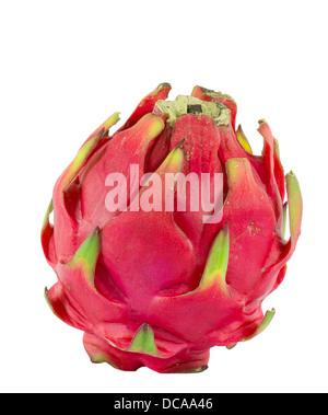 Gesunde rote Drachenfrucht vor weißem Hintergrund - Stockfoto