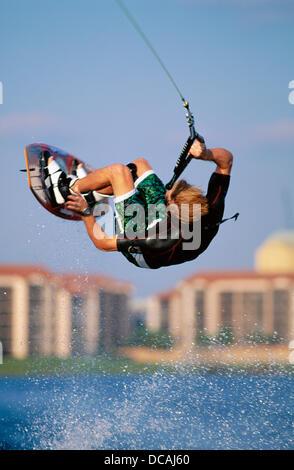 Wakeboarding. Winter Park. Florida. USA - Stockfoto