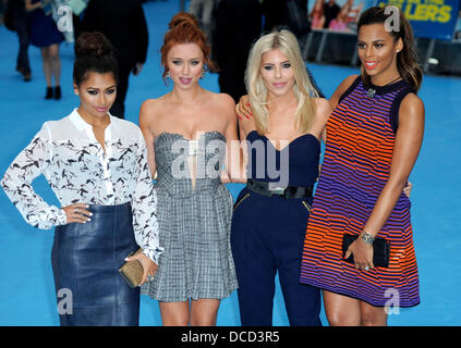 """London, UK. 14. August 2013. Samstags bei """"Wir sind die Millers"""" UK-Premiere am Odeon West End, Leicester Square, - Stockfoto"""
