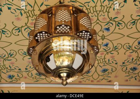 Indischer Schmuck   Jaipur Indien · Lampe, Kronleuchter, Hängend,  Interieur, Dekoration, Messing, Reich Verzierten, Decke