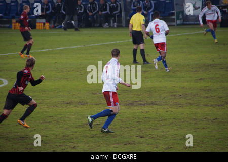 Der Fußballspieler Marcell Jansen vom Hamburger Sportverein HSV Hamburg-team - Stockfoto