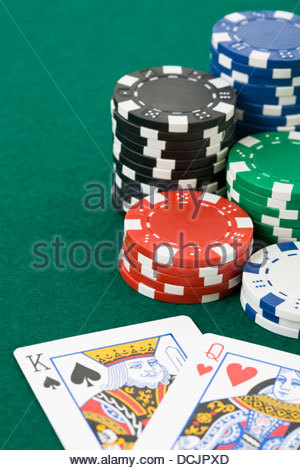 Poker Chips Verteilung